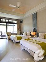 サムイ島 チョンモーンビーチのホテル : メラティ ビーチ リゾート & スパ(Melati Beach Resort & Spa)のグランド デラックスルームの設備 Bedroom