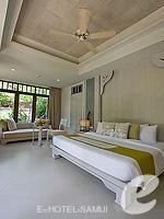 サムイ島 チョンモーンビーチのホテル : メラティ ビーチ リゾート & スパ(Melati Beach Resort & Spa)のプライベートガーデン プールルームの設備 Bedroom