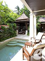 サムイ島 チョンモーンビーチのホテル : メラティ ビーチ リゾート & スパ(Melati Beach Resort & Spa)のプライベートガーデン プールルームの設備 Private Pool