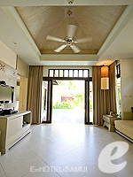 サムイ島 チョンモーンビーチのホテル : メラティ ビーチ リゾート & スパ(Melati Beach Resort & Spa)のファミリー プールヴィラ スイートルームの設備 Living Room