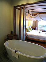 プーケット フィットネスありのホテル : メタディ− リゾート & スパ(Metadee Resort and Spa)のデラックス プールビュールームの設備 Bathroom
