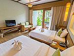 プーケット フィットネスありのホテル : メタディ− リゾート & スパ(Metadee Resort and Spa)のデラックス プール アクセスルームの設備 Bedroom Area