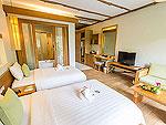 プーケット フィットネスありのホテル : メタディ− リゾート & スパ(Metadee Resort and Spa)のデラックス プール アクセスルームの設備 Bedroom