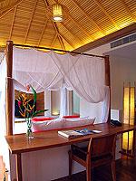 プーケット フィットネスありのホテル : メタディ− リゾート & スパ(Metadee Resort and Spa)のプライベート プールヴィラルームの設備 Bedroom