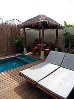プーケット フィットネスありのホテル : メタディ− リゾート & スパ(Metadee Resort and Spa)のプライベート プールヴィラルームの設備 Terrace