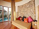 プーケット フィットネスありのホテル : メタディ− リゾート & スパ(Metadee Resort and Spa)のグランド プール ヴィラ スイート 3ベッドルームルームの設備 Living Area