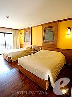 パタヤ ノースパタヤのホテル : マイク オーキッド リゾート(Mike Orchid Resort)のスタンダード ルームルームの設備 Bedroom