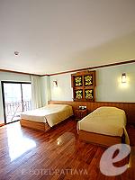 パタヤ ノースパタヤのホテル : マイク オーキッド リゾート(Mike Orchid Resort)のデラックス ルーム ルームの設備 Bedroom