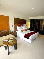 プーケット パトンビーチのホテル : ミレニアム リゾート パトン プーケット(Millennium Resort Patong Phuket)のデラックス(ダブル)ルームの設備 Bedroom