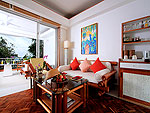 プーケット スパ併設のホテル : モム トリズ ヴィラ ロイヤル(Mom Tri's Villa Royale)のロイヤル ウィング スイートルームの設備 Bedroom