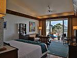 プーケット スパ併設のホテル : モム トリズ ヴィラ ロイヤル(Mom Tri's Villa Royale)のペントハウス スイートルームの設備 Bedroom