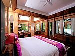 プーケット スパ併設のホテル : モム トリズ ヴィラ ロイヤル(Mom Tri's Villa Royale)のプール・スイートルームの設備 Bedroom