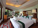 プーケット スパ併設のホテル : モム トリズ ヴィラ ロイヤル(Mom Tri's Villa Royale)のオーシャン ウィング スイートルームの設備 Bedroom