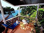 プーケット スパ併設のホテル : モム トリズ ヴィラ ロイヤル(Mom Tri's Villa Royale)のオーシャン ウィング スイートルームの設備 Balcony