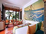 プーケット スパ併設のホテル : モム トリズ ヴィラ ロイヤル(Mom Tri's Villa Royale)のオーシャン ウィング ボーデックスルームの設備 Bedroom