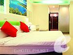 プーケット パトンビーチのホテル : アイ チェックイン パトン プーケット(i Check Inn Patong Phuket)のデラックスルームの設備 Bedroom