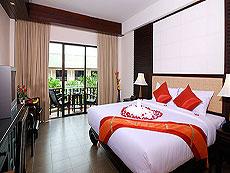 プーケット パトンビーチのホテル : ニパ リゾート(1)のお部屋「デラックス プール ビュー」