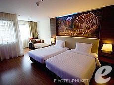 プーケット ファミリー&グループのホテル : ノボテル プーケット ビンテージ パークリゾート(1)のお部屋「デラックス」