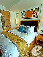 バンコク スクンビットのホテル : オークウッド レジデンス スクンビット24 バンコク(Oakwood Residence Skumvit 24 Bangkok)のスタジオ スーペリア (ルームオンリー)ルームの設備 Bedroom