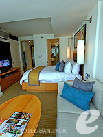 バンコク スクンビットのホテル : オークウッド レジデンス スクンビット24 バンコク(Oakwood Residence Skumvit 24 Bangkok)のスタジオ エグジクティブ (ルームオンリー)ルームの設備 Living Area