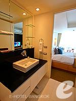 バンコク スクンビットのホテル : オークウッド レジデンス スクンビット24 バンコク(Oakwood Residence Skumvit 24 Bangkok)のスタジオ エグジクティブ(ウィズ ABF)ルームの設備 Bath Room