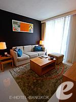 バンコク スクンビットのホテル : オークウッド レジデンス スクンビット24 バンコク(Oakwood Residence Skumvit 24 Bangkok)の1ベッドルーム(ウィズABF)ルームの設備 Room View