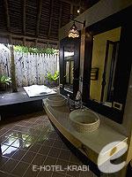 クラビ キャンペーンのホテル : ピピ アイランド ヴィレッジ ビーチリゾート(Phi Phi Island Village Beach Resort)のヒルサイド プール ビラルームの設備 Bathroom