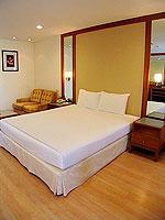 パタヤ シラチャーのホテル : パシフィック パーク ホテル & レジデンス(Pacific Park Hotel & Residence)のエグゼクティブ スタンダード(ホテル ウィング)ルームの設備 Bedroom
