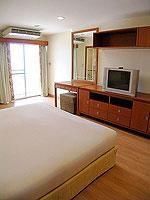 パタヤ シラチャーのホテル : パシフィック パーク ホテル & レジデンス(Pacific Park Hotel & Residence)のエグゼクティブ スーペリア(ホテル ウィング)ルームの設備 Bedroom