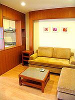 パタヤ シラチャーのホテル : パシフィック パーク ホテル & レジデンス(Pacific Park Hotel & Residence)のエグゼクティブ スーペリア(ホテル ウィング)ルームの設備 Living Room