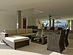 サムイ島 チョンモーンビーチのホテル : パノラマ スミット(Panorama Summit)の3ベッドルームルームの設備 Living Room