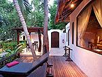 Terrace : Garden Villa at Paradee Resort, Beach Front, Pattaya