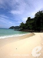 クラビ ピピ島のホテル : パラダイス パール バンガロー 「Beach」