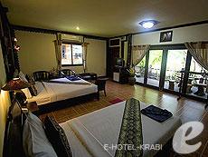 Family Room Beach Front(P) : พาราไดซ์เพิร์ลบังกะโล, เกาะพีพี