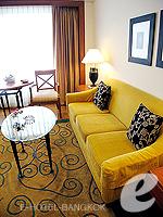 バンコク サイアム・プラトゥーナムのホテル : パトゥムワン プリンセス ホテル(Pathumwan Princess Hotel)のエグゼクプラススイートルームの設備 Living Room
