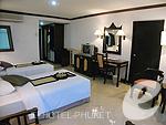 プーケット ビーチフロントのホテル : パトン ベイ ガーデン リゾート(Patong Bay Garden Resort)のデラックス シティルームの設備 Bedroom