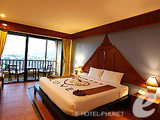 プーケット パトンビーチのホテル : パトン コテージ リゾート(1)のお部屋「デラックス シービュー」