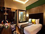 プーケット パトンビーチのホテル : パトン メルリン ホテル(Patong Merlin Hotel)のデラックス(ツイン)ルームの設備 Bed Room