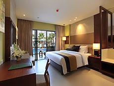 プーケット パトンビーチのホテル : パトン メルリン ホテル(1)のお部屋「デラックスプールアクセス(ツイン)」