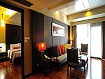 プーケット パトンビーチのホテル : パトン メルリン ホテル(Patong Merlin Hotel)のエグジクティブ スイートルームの設備 Living Room