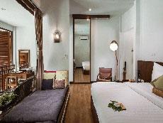 サムイ島 ボプットビーチのホテル : ピース リゾート(Peace Resort)のデラックス テラス ルームルームの設備 Bedroom