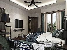 サムイ島 ボプットビーチのホテル : ピース リゾート(Peace Resort)のデラックス バンガロールームの設備 Bedroom