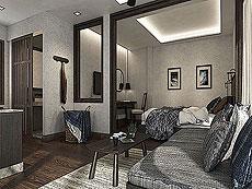 サムイ島 ボプットビーチのホテル : ピース リゾート(Peace Resort)のプレミアム バンガロールームの設備 Bedroom
