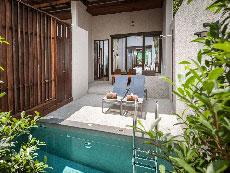サムイ島 ボプットビーチのホテル : ピース リゾート(Peace Resort)のデラックス プルンジ プールルームの設備 Plunge Pool