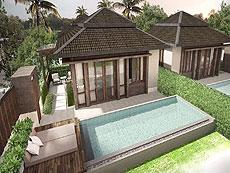 サムイ島 ボプットビーチのホテル : ピース リゾート(1)のお部屋「シーブリーズ プール ヴィラ」