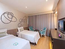 プーケット プーケットタウンのホテル : パール ホテル(1)のお部屋「パールルーム(ダブル/ツイン)」