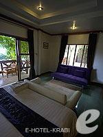 クラビ ピピ島のホテル : ピピ ビラ リゾート(Phi Phi Villa Resort)のラグジュアリー デラックス ビーチ フロントルームの設備 Room View