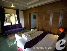 クラビ ピピ島のホテル : ピピ ビラ リゾート(1)のお部屋「ラグジュアリー デラックス ビーチ フロント」
