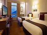 プーケット プーケットタウンのホテル : プーケット メルリン ホテル(Phuket Merlin Hotel)のデラックス(ツイン)ルームの設備 Bed Room