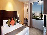 プーケット プーケットタウンのホテル : プーケット メルリン ホテル(Phuket Merlin Hotel)のエグゼクティブ スイートルームの設備 Bed Room